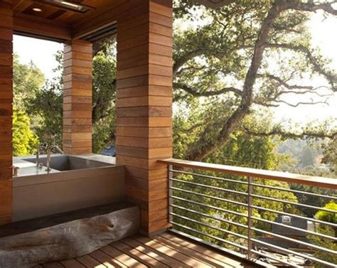 outdoor bathrooms ideas awesome outdoor bathrooms with small bathtub