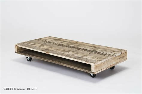 pallet coffee tables on wheels by gas air studios