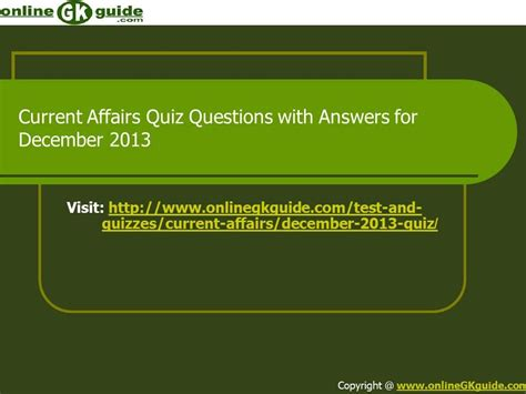 quiz questions youtube current affairs december 2013 quiz questions with answers