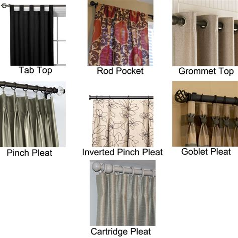 types of curtain tops tab top drapes are stylish and clean they remove the need