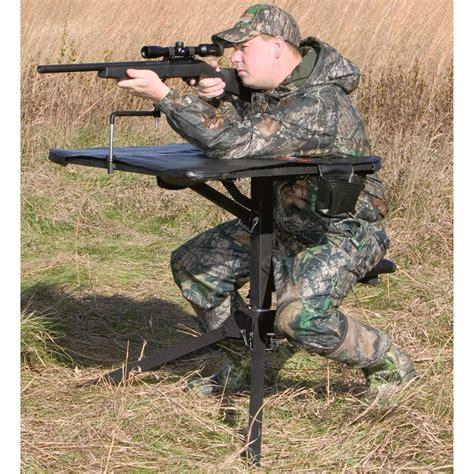 big game 174 swivel action shooting bench black 137864