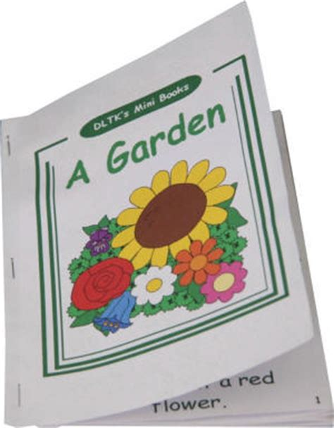 How To Make A Book Out Of Printer Paper - dltk s make your own books a garden