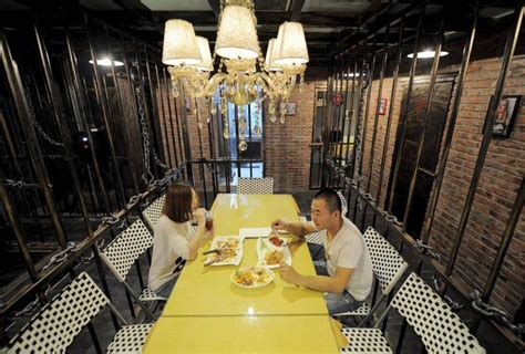 newspaper themed restaurant prison themed restaurant opens in tianjin city in china
