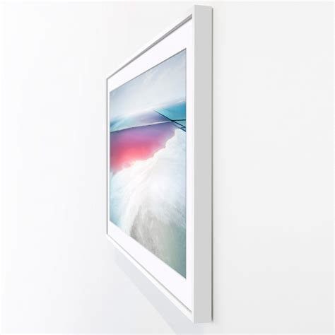 new samsung tv the frame doubles as a wooden picture frame