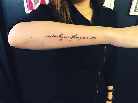 forearm quote tattoos text script word scripttattoo arm outer forearm