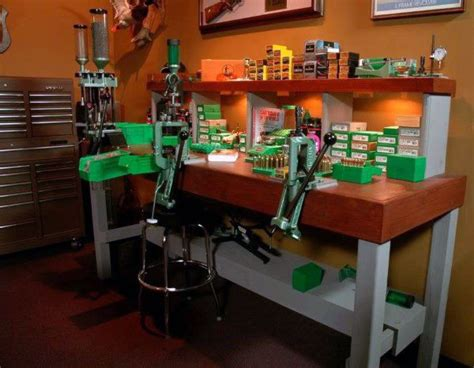 best reloading bench layout gun room with reloading table gun rooms pinterest