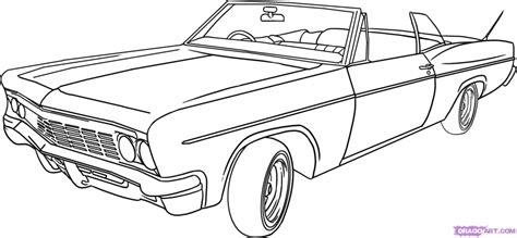old fashioned cars coloring pages classic car drawing how to draw a lowrider step step cars