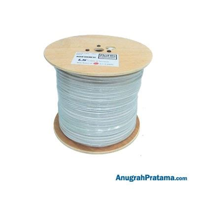 Kabel Ls Coaxial Cable Cctv Rg59 Power Ls By Lg 1 Roll New White 1 ls rg59 power kabel cable anugrahpratama