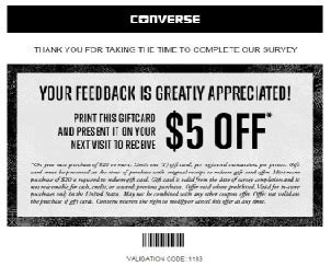 Nike Survey 10 Gift Card - nike converse store survey to receive a 5 nike or converse gift card wink24news