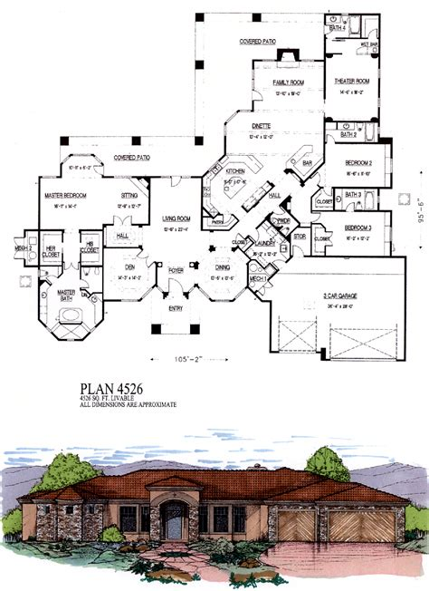 how big is 3500 square feet 3500 to 4500 sq ft house plans one luxihome luxamcc