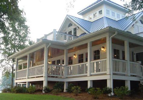 Lake House Plans With Wrap Around Porch My House Porches Wrap Around The Entire House Open Floor Plan Widows Walk