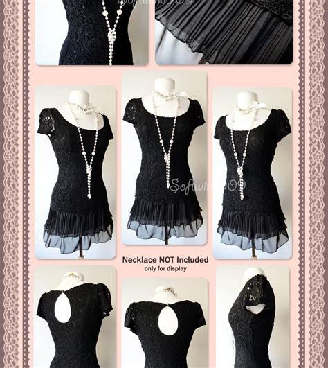 Dress Pesta Mini Lace Black Hitam Import M Limited 1 new arden b black paisley knit lace pleat ruffle skirt hem mini dress tunic top ebay