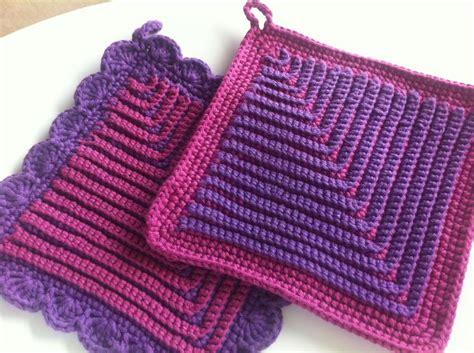 crochet potholder pattern german potholders by cindasaur free crochet pattern