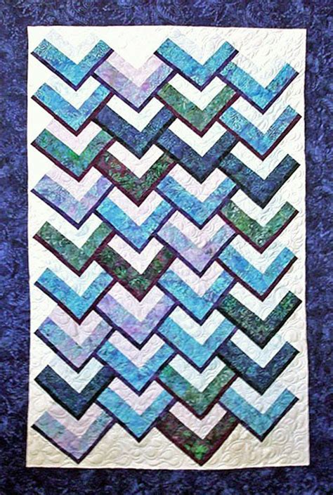 Chevron Pattern Quilts by Chevron Falls Quilt Pattern Tqs 66 Advanced Beginner And Throw Home Decor