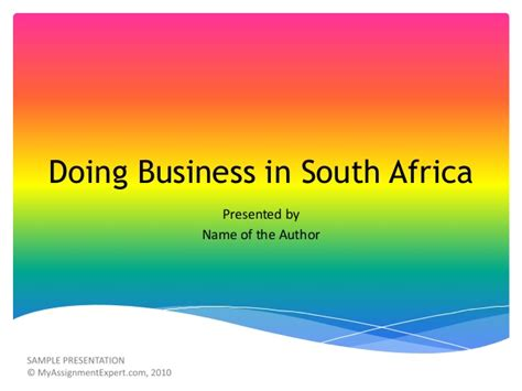 Business Schools In South Africa Mba by Doing Business In South Africa
