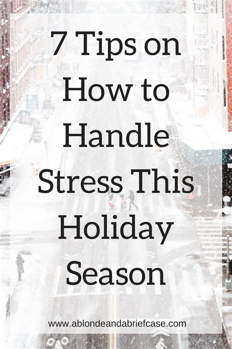 7 Secrets To Gear Up For The Holidays by A A Briefcase 7 Tips For Handling Stress This
