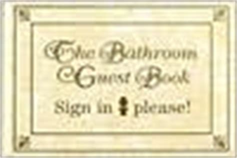 bathroom sign in book bathroom guest book sign in please by jack kreismer