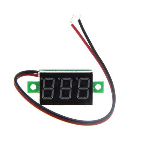 Voltmeter Dc 45v 30v Digital 2 Kabel With Frame Birublue diy 0 36 quot 3 digit 2 wire dc 4 5 30v light led digital voltmeter voltage display module