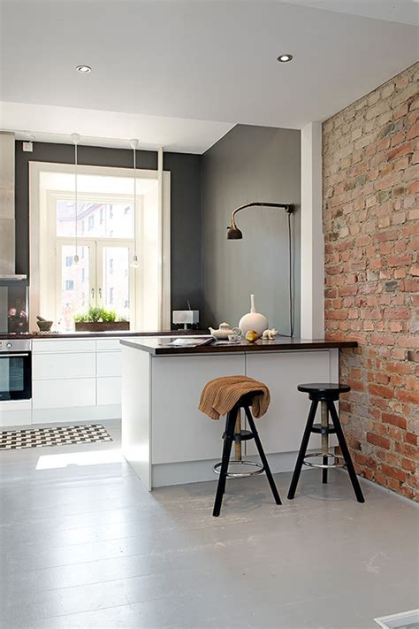 Industrial L Shades by Modern Kitchen Design In Calm Shades With Industrial Touches Digsdigs