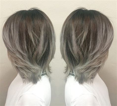 images of silver highlights on very dark short hair 40 glamorous ash blonde and silver ombre hairstyles page
