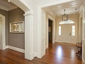 foyer grey paint white trim hard wood floor ljkoike for the home pinterest hard wood