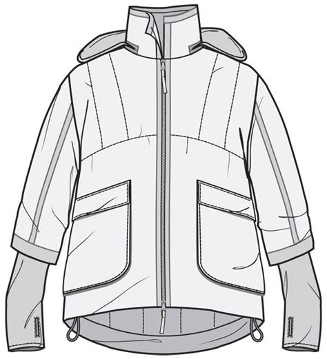 jacket design sketch drawn coat windbreaker pencil and in color drawn coat