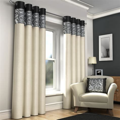 cream and black eyelet curtains skye ring top lined eyelet curtains black tony s