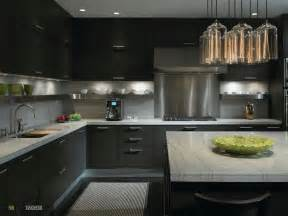 Awesome Grey Cabinets White Countertops #3: Outstanding-kitchen-design_lavish-black-cabinet_astonishing-chandeliers_grey-marble-countertop_kitchen-island.jpg.jpg