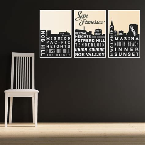 home decor san francisco skyline poster san francisco art typography print modern