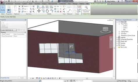 curtain wall revit revit 3 2 embedding curtain walls youtube