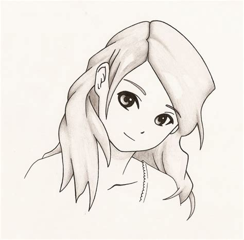 A Anime Drawing by Easy Pencil Drawings Of Anime Easy Anime To Draw