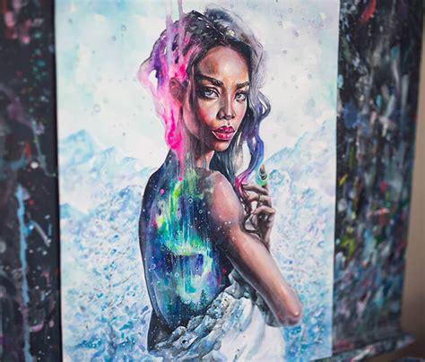 northern lights painting by tanya shatseva no 2647