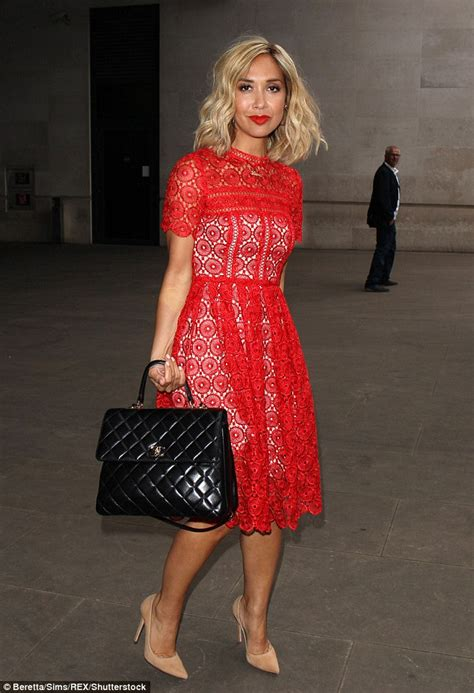 Heels Simple Glossy All Series myleene klass sizzles in scarlet for outing in daily mail