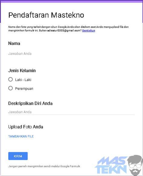 cara membuat kuesioner menggunakan google cara mudah membuat formulir online dengan google form