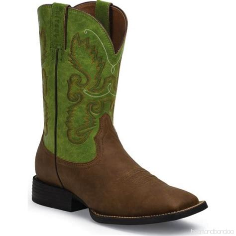 justin cowboy boots square toe justin farm and ranch s synthetic cowboy boots square