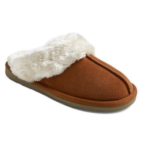images for slippers mossimo chandra shoes brown chestnut genuine suede clog