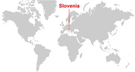 slovenia on world map slovenia map and satellite image