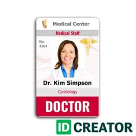 1000 Images About Healthcare Hospital Badge On Pinterest Card Templates Badges And Id Badge Hospital Id Badge Template
