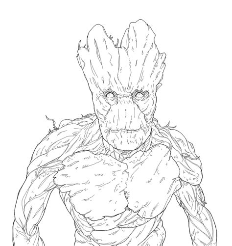 I M Drawing The Line by I Am Groot Lineart By B Dangerous On Deviantart
