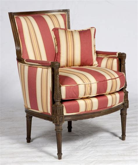 red striped formal armchair 2 550 est retail 750 on