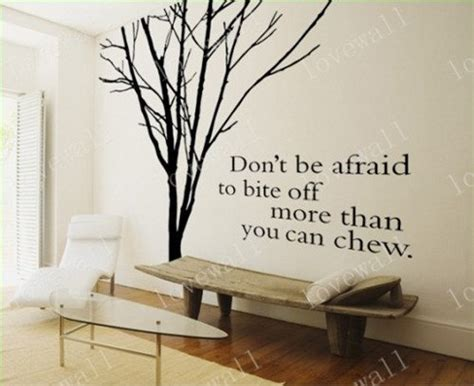 Wall Murals Stencils quote tree decal vinyl wall decal winter tree sticker