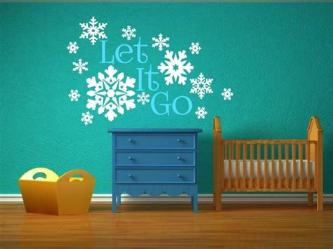 Mj8001 Go Wall Sticker Stiker frozen let it go amazing snowflakes large wall sticker