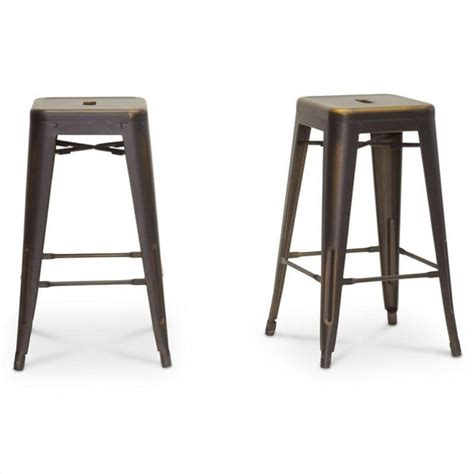 french industrial bar stools french industrial counter stool in antique copper set of