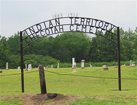indian territory checotah cemetery mcintosh county