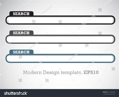 Modern Design Template Search Box Your Stock Vector 119596489 Shutterstock Search Website Template