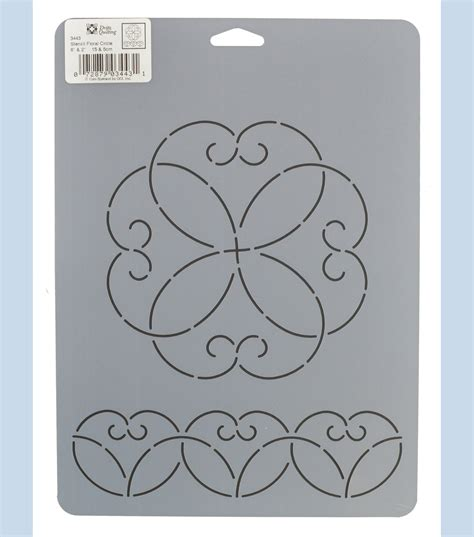 dritz quilting 8 5 x 11 75 stencil floral circle at