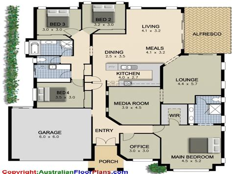 4 Bedroom Ranch Floor Plans by 4 Bedroom Ranch House Plans 4 Bedroom House Plans Modern