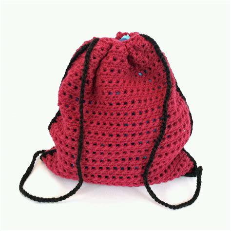 crochet pattern drawstring bag crochet pattern drawstring backpack