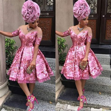 Short Gowns For Aso Ebi Styles | aso ebi in short gowns