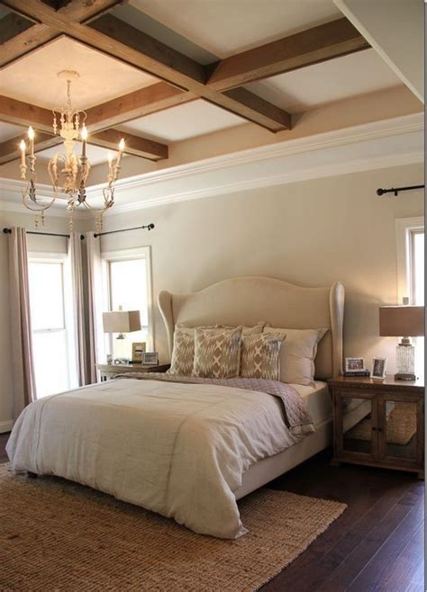 beamed tray ceilingso pretty love  chandy    bedroom ceiling home bedroom